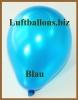 Mini-Luftballons, Metallicfarben, Blau, 100 Stück
