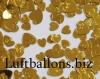 Konfetti Hochzeit, Tischdekoration, Herzen, Metallic, Gold