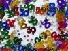 Tischdekoration Geburtstag, Konfetti, Zahl 30, Bunt