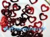 Konfetti Hochzeit, Tischdekoration, Rote Herzen in 3 verschiedenen Größen