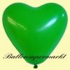 Luftballons Helium Set, Miniflasche, Herzluftballons in Grün