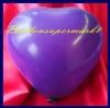 Mini-Herzluftballons, 8-12 cm, Lila, 100 Stück
