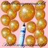 Luftballons Helium Set, Miniflasche, Latex-Luftballons mit der Zahl 50, Zur Goldenen Hochzeit