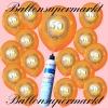 Luftballons Helium Set, Miniflasche, Latex-Luftballons mit der Zahl 50, Jubiläum