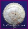 Luftballon zur Hochzeit, Bärchenpaar, Wedding Wishes