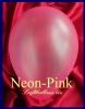 Luftballons Neon, Rundballons in 18-20 cm, Pink, 100 Stück
