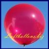 Großer Luftballon, Rund, 48-51 cm, Farbe Metallic Rot