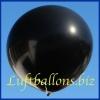 Großer Luftballon, Rund, 48-51 cm, Farbe Schwarz