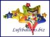 Happy Birthday Sterne, Folien-Luftballon zum Geburtstag