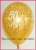 Luftballons Hochzeit, Goldene Hochzeit, Zahl 50, 10 Stück