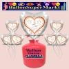 Helium-Set mit Folien-Luftballons, Silberne Hochzeit, 25, Hochzeitstauben