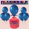 Luftballons Helium Einweg Set, Rundballons, Metallicfarben, Dunkelblau, 30 Stück