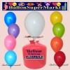 Luftballons Helium Einweg Set, Rundballons, bunt gemischt, 30 Stück