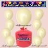 Luftballons Helium Einweg Set, Rundballons, Elfenbein, 30 Stück