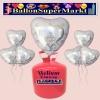 Helium-Set mit Folien-Luftballons, Wedding Wishes, Hochzeitstauben