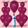 Luftballons Helium Set, Miniflasche, Latex-Luftballons in Dunkelrosa