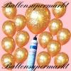 Luftballons Helium Set, Miniflasche, Latex-Luftballons mit der Zahl 50, Goldene Hochzeit