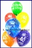 Zahlen-Luftballons, Zahl 40, Kristallfarben, 25 Stück