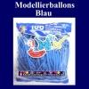 Modellierballons, Blau, 100 Stück