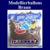 Modellierballons, Fuchsia, 100 Stück