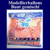 Modellierballons, Bunt gemischt, 100 Stück