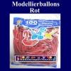 Modellierballons, Rot, 100 Stück