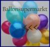 Deko-Luftballons, Metallicfarben, Blau, 28-30 cm, 100 Stück