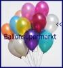 Deko-Luftballons, Metallicfarben, Perlmutt, 28-30 cm, 100 Stück