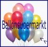 Deko-Luftballons, Metallicfarben, Weiß, 28-30 cm, 50 Stück
