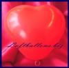 Mini-Herzluftballons, 8-12 cm, Rot, 100 Stück