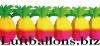 Girlande zur Party- und Festdekoration, Dekogirlande, Ananas