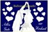 Ballonflugkarte Hochzeit, Hochzeitspaar
