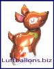 Weihnachts-Luftballon, Rentier mit Helium, Geschenk zu Weihnachten