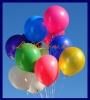 Großer Luftballon, Rund, 48-51 cm, Farbe Rot