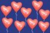 Luftballons Helium Set Hochzeit, 30 rote Herzluftballons mit Ballongas