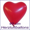 Rote Herzluftballons, 40 cm, 10 Stück