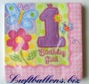 Servietten zum Kindergeburtstag, Papierservietten, Tischdekoration, Happy Birthday, 1. Geburtstag, Girl