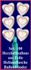 Luftballons Helium Set Silberne Hochzeit, 100 Folien-Herzluftballons, 25th, mit Ballongas