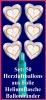 Luftballons Helium Set Silberne Hochzeit, 50 Folien-Herzluftballons, 25th, mit Ballongas