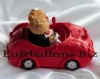 Hochzeitspaar, Tischdekoration zur Hochzeit, Spardose, Bärchenpaar im Auto