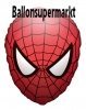 Spiderman Face Luftballon mit Helium, Kindergeburtstag u. Geschenk