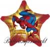 Spiderman Stern Luftballon mit Helium, Kindergeburtstag u. Geschenk