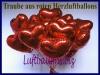Luftballons Helium Set Hochzeit, 100 Folien-Herzluftballons Rot mit Ballongas
