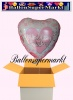Luftballon zur Hochzeit, Wedding Wishes, Rosa, mit Helium
