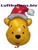 Weihnachts-Luftballon, Pu Bär mit Helium, Geschenk zu Weihnachten