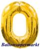 Zahlen-Luftballon Gold, Zahl 0