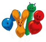 Latex-Figuren-Luftballons, 10 Stück