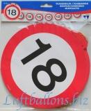 Geburtstag-Dekoration, Flaggenbanner, 18. Geburtstag
