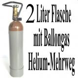 Helium-Mehrweg-Flasche mit 2 Liter Heliumgas