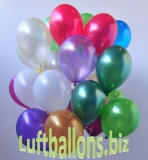 Luftballons Metallic, Bunt gemischt, 100 Stück, 28 cm
